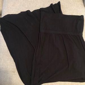 Black Splendid fold over maxi skirt